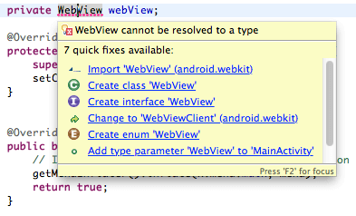 Import Webview
