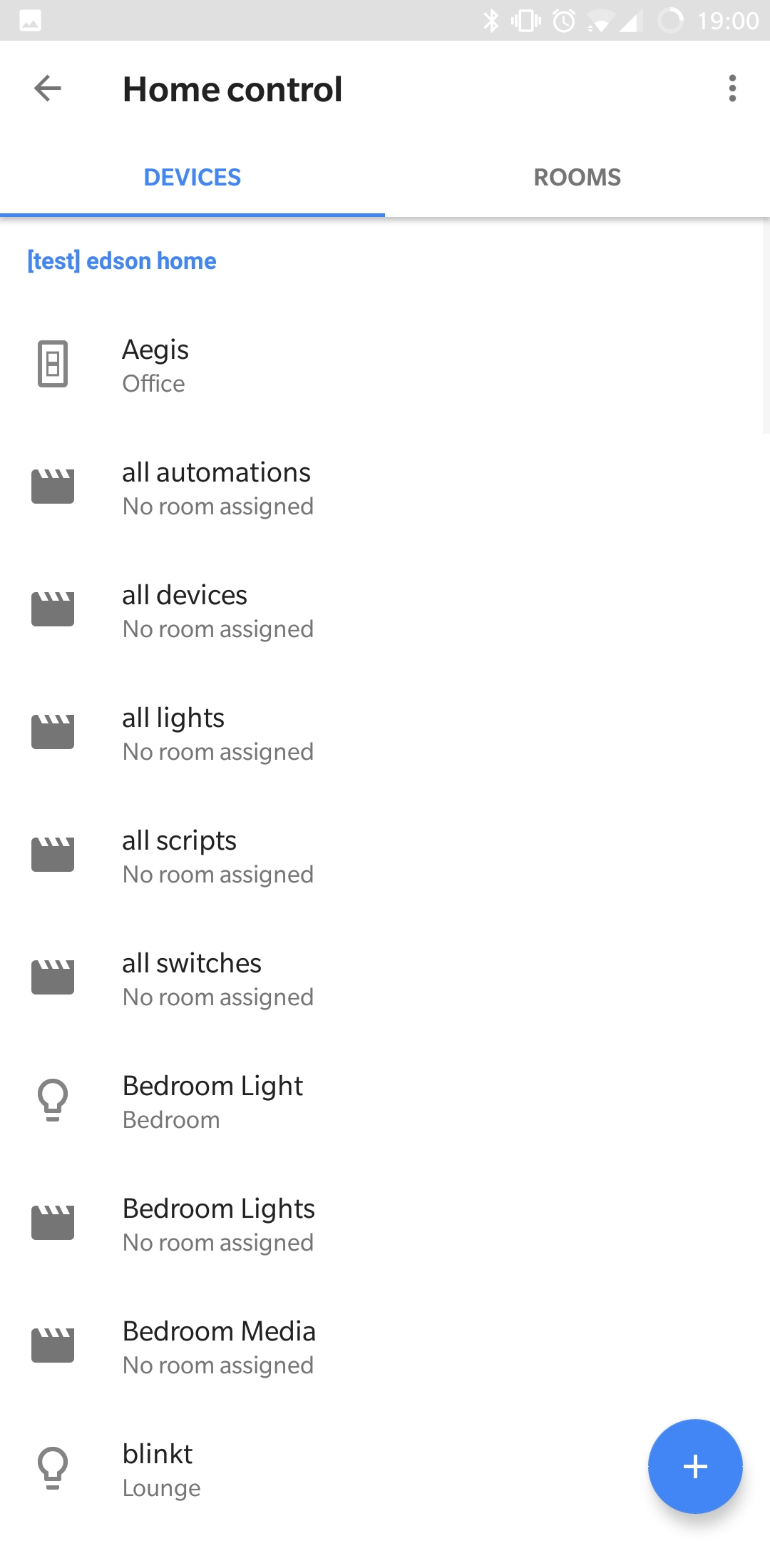 Google home app devices list