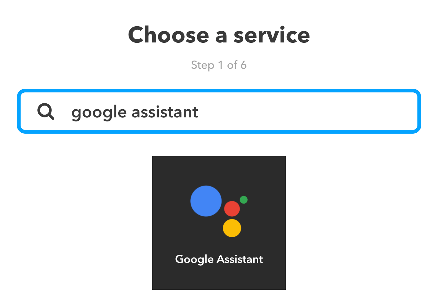 Search Google Assistant
